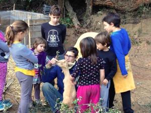 foto niños y cabras para pag web